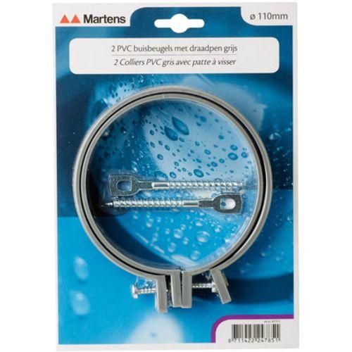Martens beugel+pen 110mm M8  grijs