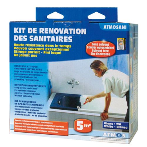 Atmos renovatie kit sanitair 'Atmosani' wit 5 m²