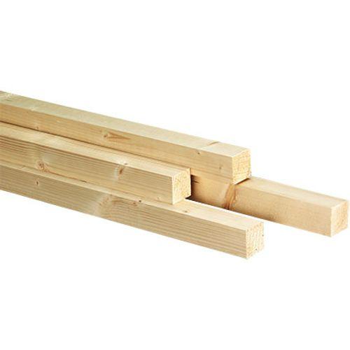 JéWé schaaflat voordeelpak vuren 44X44mm 300cm (4 stuks)