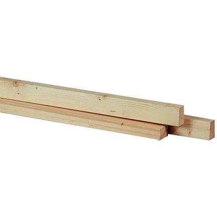 JéWé schaaflat voordeelpak vuren 44X69mm 270cm (3 stuks)