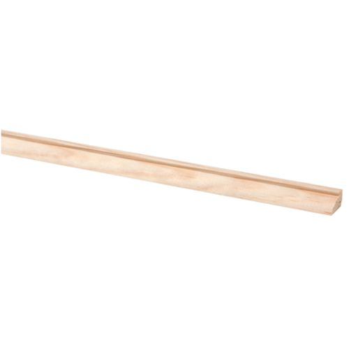 Glaslat grenen 9 x 15mm 270cm
