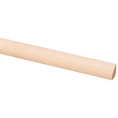 Kwartronde lat grenen 16 x 16mm 270cm