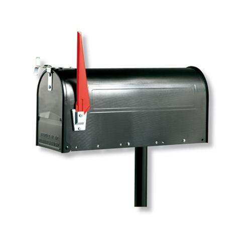 Burg Wächter paal voor 'U.S. Mailbox' zwart