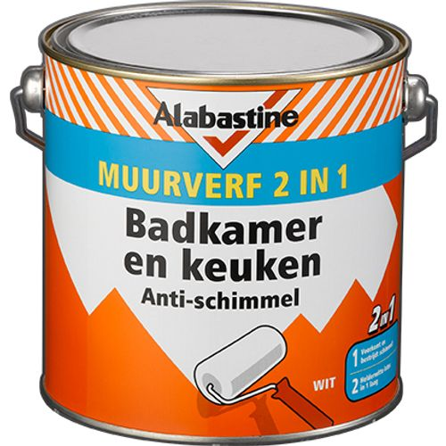 Alabastine badkamer & keukenverf 2 in 1 2,5L