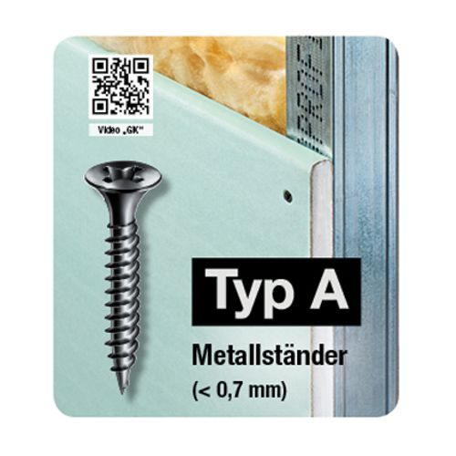Spax schroef droge tussenwand 'GIX Type A' 45 x 3,9 mm - 300 stuks