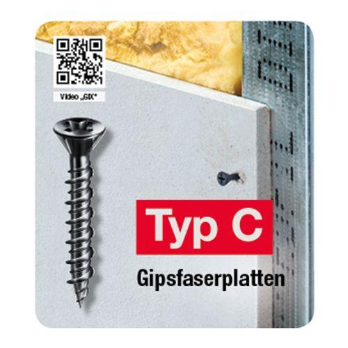 Spax schroef droge tussenwand 'GIX Type C' 25 x 3,9 mm - 200 stuks