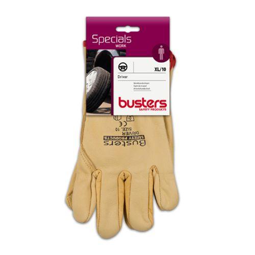 Busters handschoenen 'Driver' rundsnerfleder M10