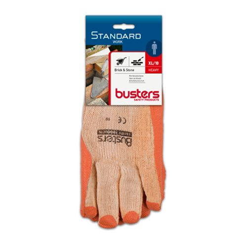 Gants Busters 'Brick & stone' acrylique/polyester/latex T10