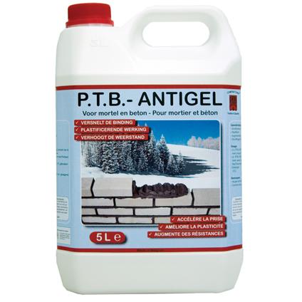 PTB antigel voor mortel en beton 5 L