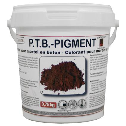 PTB kleurstof voor mortel en beton rood 0,75 kg