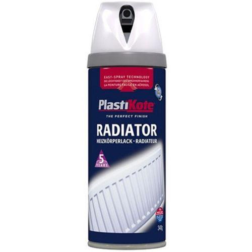 Plasti-Kote radiatorverf hoogglans wit 400ml