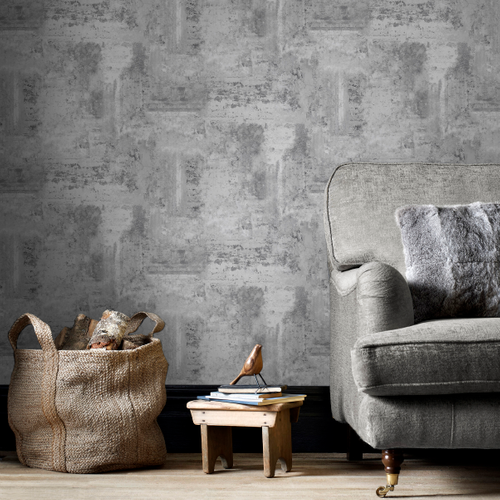 Decomode vliesbehang Luxery concrete grijs