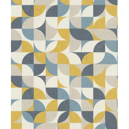 Papier peint intissé Rasch Hélice 100,05x53cm bleu jaune