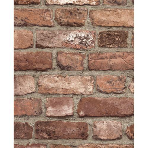 Papier peint intissé Vintage Brick rouge A28901
