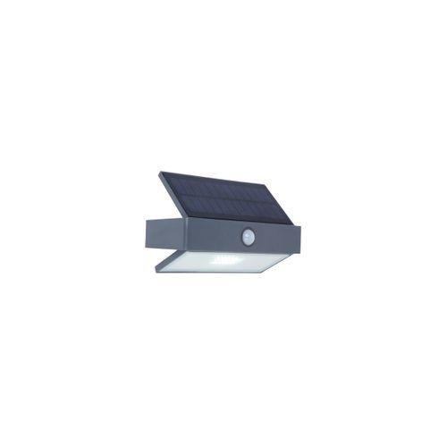 Lutec solar buiten wandlamp Arrow + bewegingsmelder antraciet 2,3W