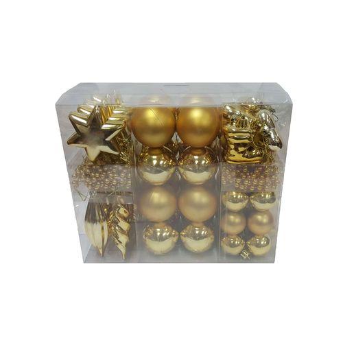 Central Park kerstballen goud plastic 60 stuks