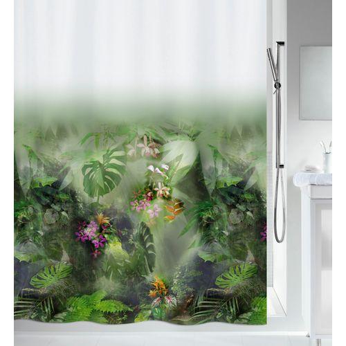 Spirella douchegordijn Jungle groen 180cm