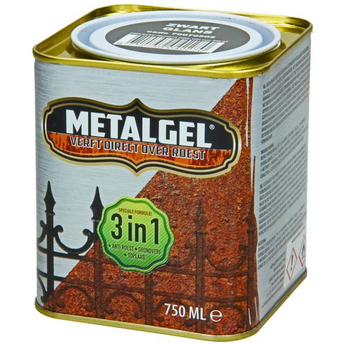 Metalgel metaallak zwart zijdeglans 750ml
