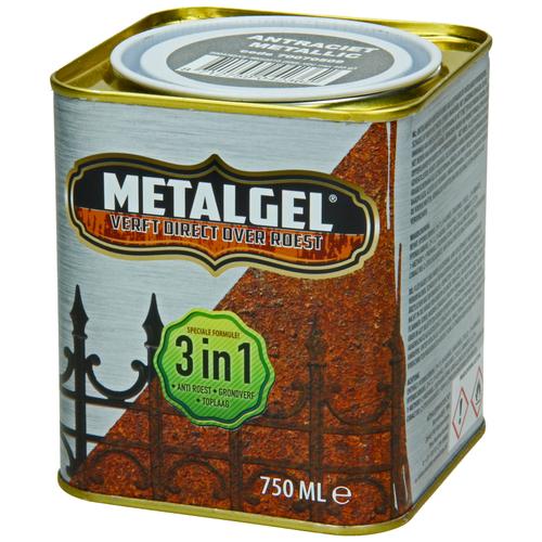 Metalgel metaallak antraciet grijs zijdeglans 750ml