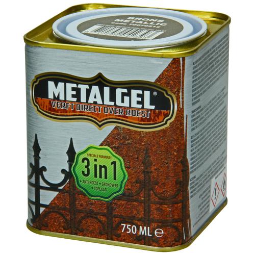 Metalgel metaallak brons glans zijdeglans 750ml