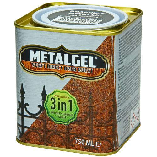 Metalgel metaallak grafiet glans zijdemat 750ml
