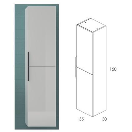 Royo kolomkast 2 deuren Indus glanzend wit 35x150cm