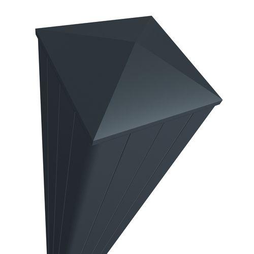 Elsealu poortpaal antraciet aluminium 15x15x250cm