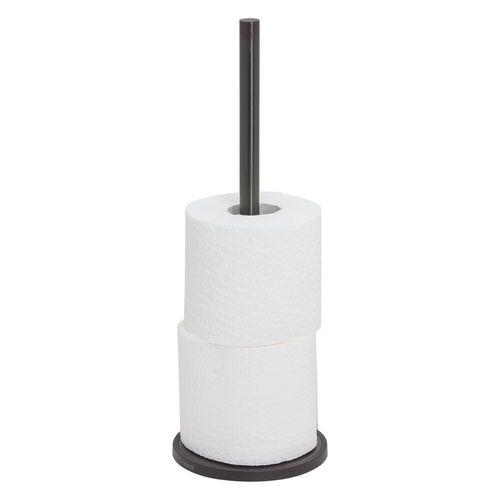Porte-rouleau wc de réserve Tiger Tune métal brossé noir à poser