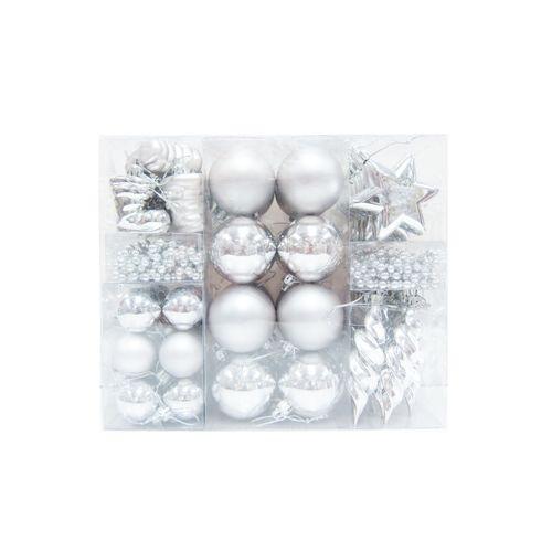 Central Park kerstballen zilver kunststof 60 stuks