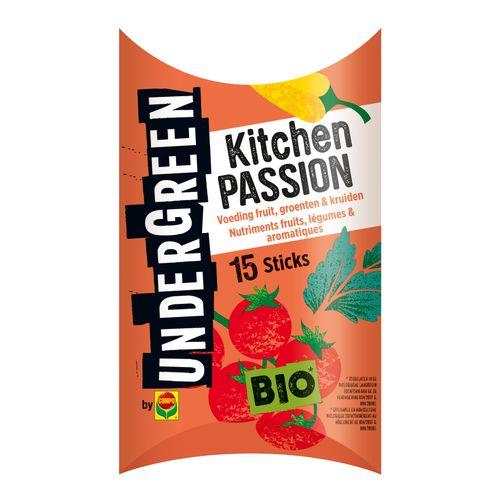Engrais bio bâtonnets fruits, légumes et herbes aromatiques Compo Undergreen Kitchen Passion 15 pcs