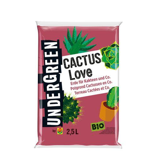 Compo Undergreen Cactus Love Bio potgrond cactussen & vetplanten 2,5L