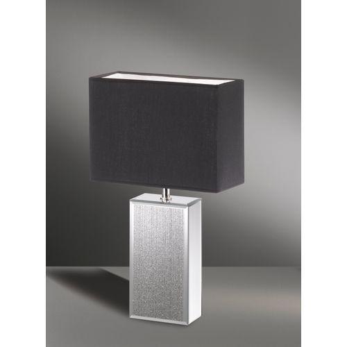 Fischer & Honsel tafellamp Bert 50cm zwart E14