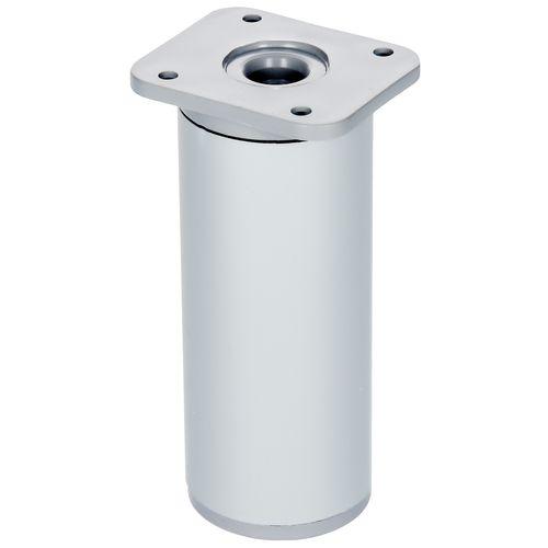 Duraline meubelpoot verstelbaar rond Alumimium Ø4x10-13cm