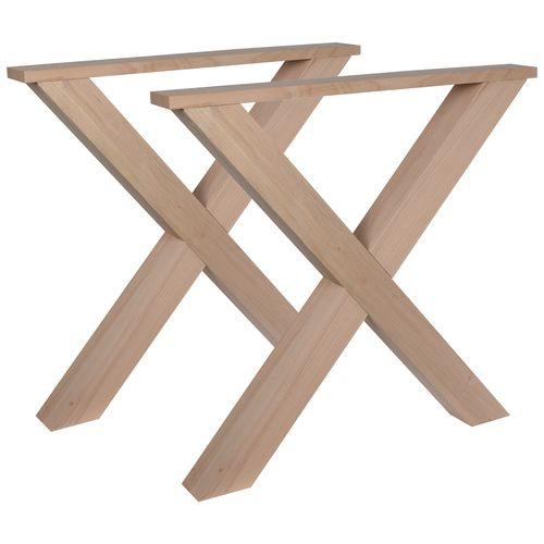 Duraline meubelpoot X-vorm hout 8x78x72cm beuken FSC 2st.