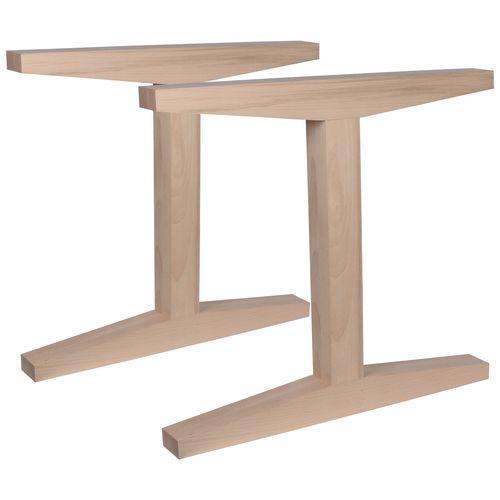 Duraline meubelpoot I-vorm hout 8x78x72cm beuken FSC 2st.