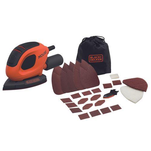 Black+Decker detailschuurmachine BEW230BC 55W 15 accessoires