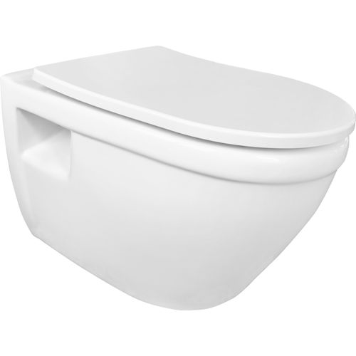GO by Van Marcke hangtoilet Flora 520x360x340mm randloos wit  +softclose en take-off toiletzitting