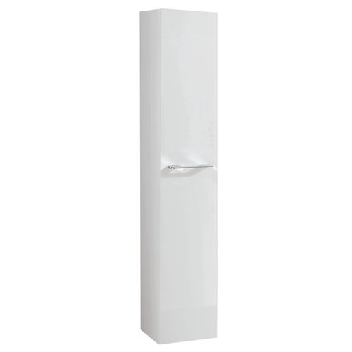 Royo kolomkast 1 deur Level glanzend wit 30x140cm