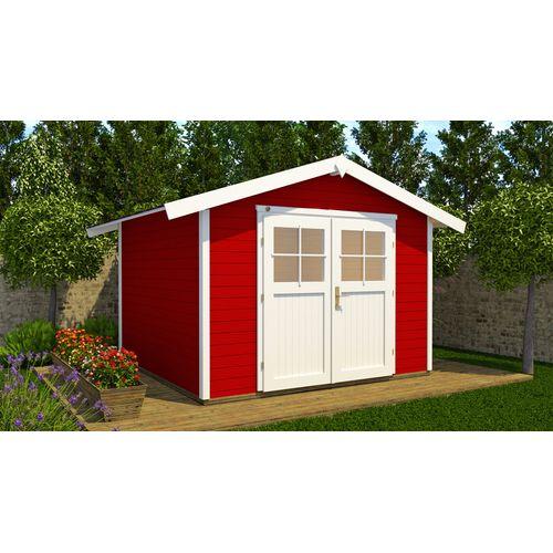 Abri de jardin Weka122 GR5 rouge 295x300cm