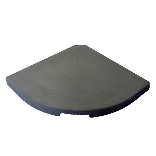 Decor parasolvoettegel zwart 14kg