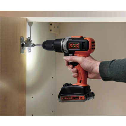 Black+Decker schroef-/klopboormachine BCD003BA10S-QW 18V