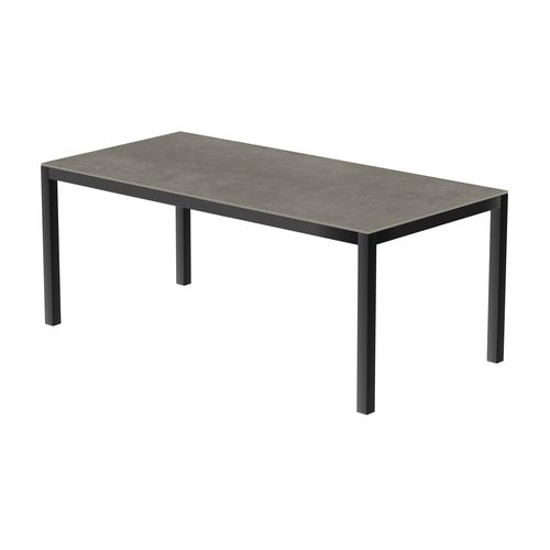 Table de jardin Coeck Uptown Dark 200x100cm aluminium anthracite