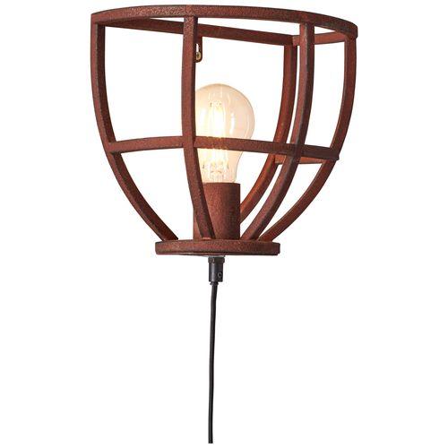 Brilliant wandlamp Matrix roest E27