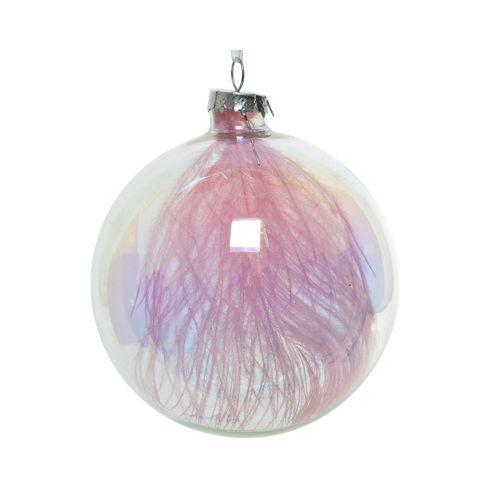 Kerstbal Glas Veer 10cm