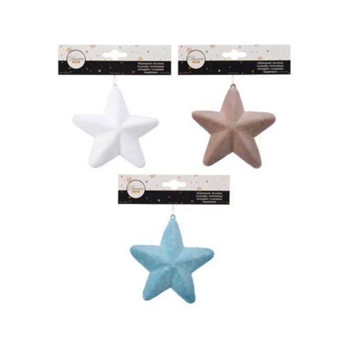 Pendentif étoile blanc plastic