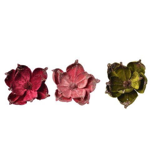 Hangertjes bloem fluweel draad 38x5cm