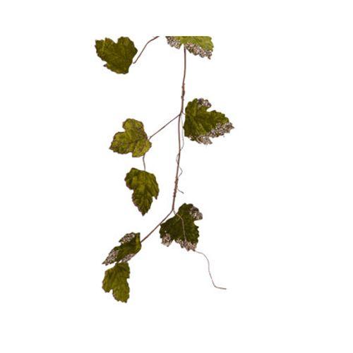 Guirlande feuilles vertes 120cm