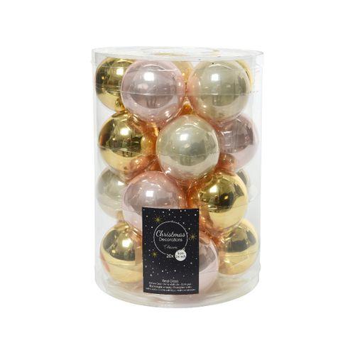 Boules de Noël verre Crystal Ball 20 pièces