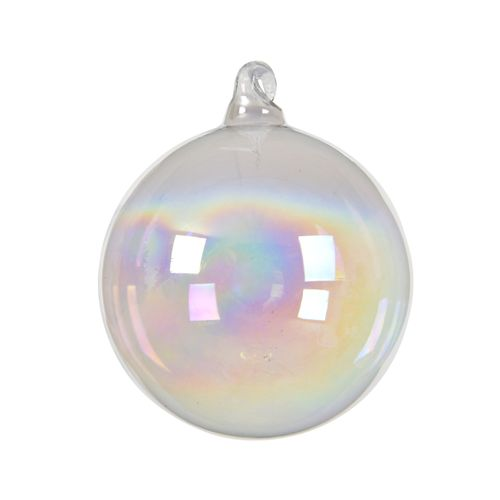 Boule de Noël Iris transparent 8cm 3 pièces