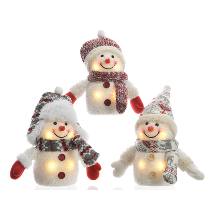 LED sneeuwpop decoratie